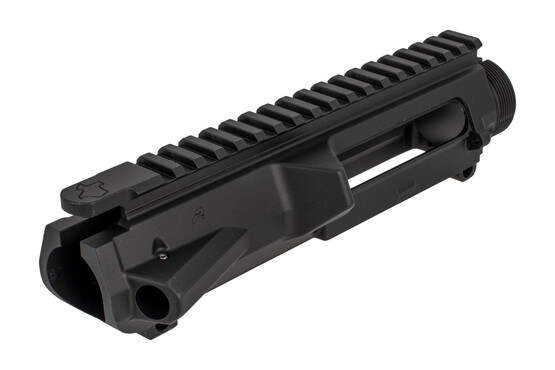 Aero Precision Texas edition M5 Threaded AR10 upper features a threaded pin for the forward assist and a black finish